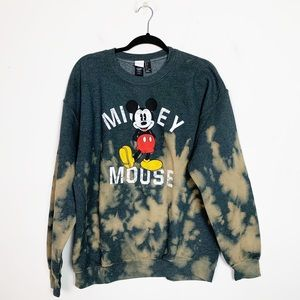 Disney Mickey Mouse Upcycled Bleached Sweatshirt